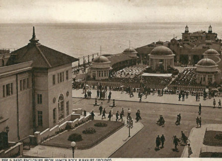 Hastings Pier and Band Enclosure from White Rock Pleasure Grounds, 1930s