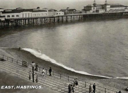 Panoramic Postcard of Pier, Looking East