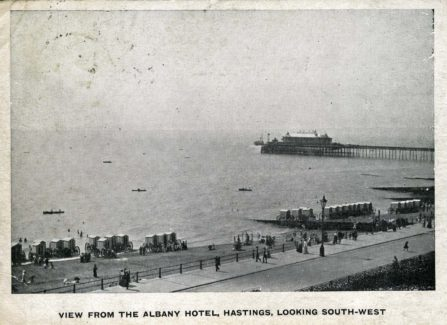 View from the Albany Hotel, Hastings