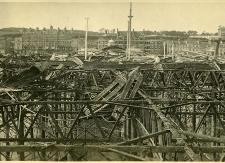 The Destroyed Pier after the 1917 Fire