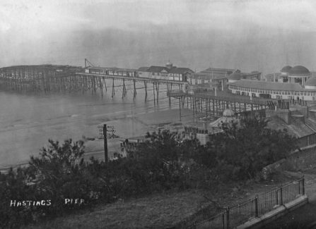 Hastings Pier after the 1917 Fire, from White Rock