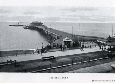 Edwardian photographs of Hastings and St Leonards Piers