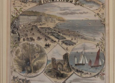 Cover of Late-Victorian Hastings Tourist Brochure