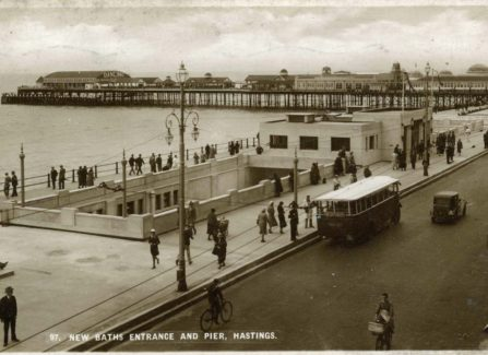 The New Baths Entrance and Pier, Hastings