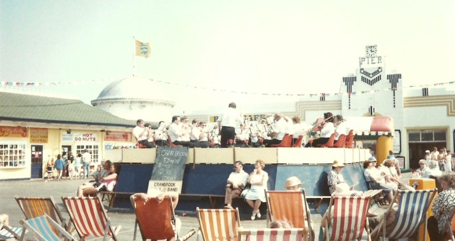 Cranbrook Town Band in Concert on the Pier in 1987