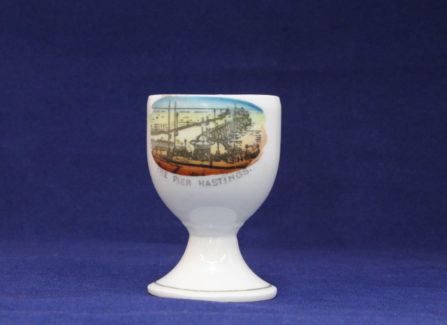 Egg cup with tinted transfer of the Pier