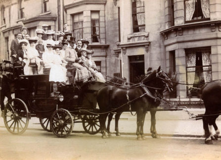 Family on a Horse-Drawn Charabanc