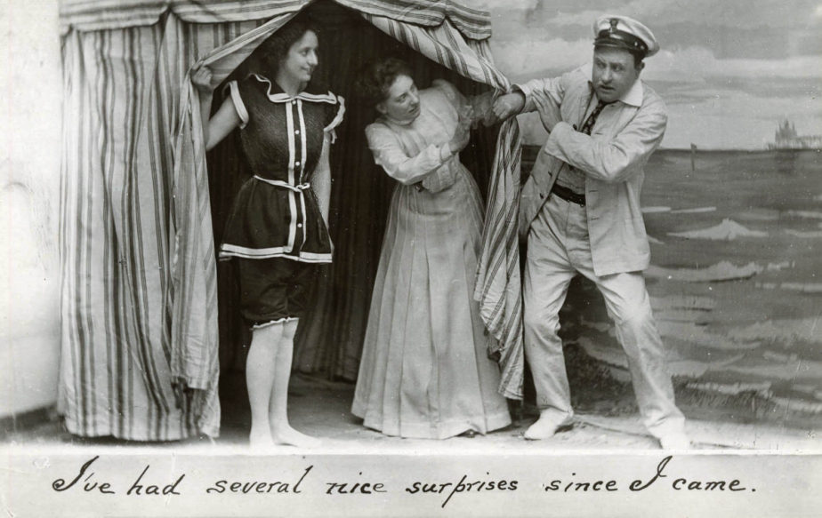 Edwardian 'Naughty' Seaside Postcards