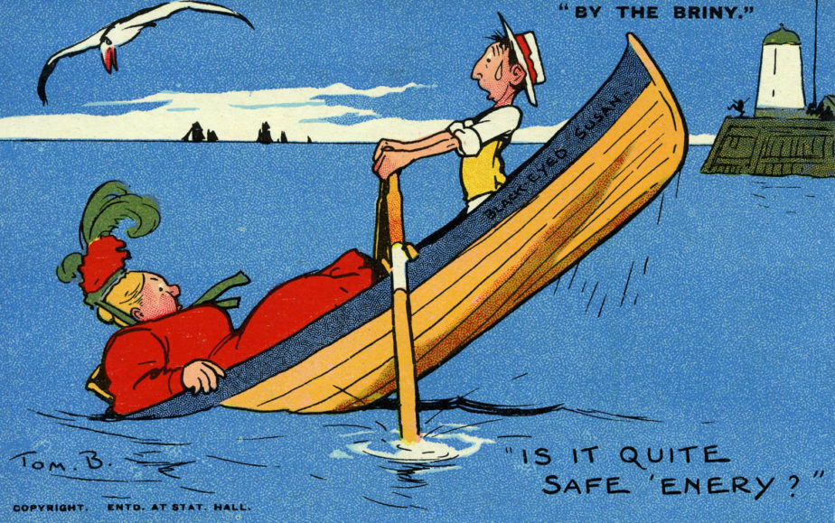 'Naughty but Nice' Cartoonist Tom Browne's Seaside postcard