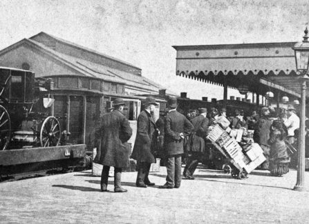 Carriage Arriving at Hastings Station