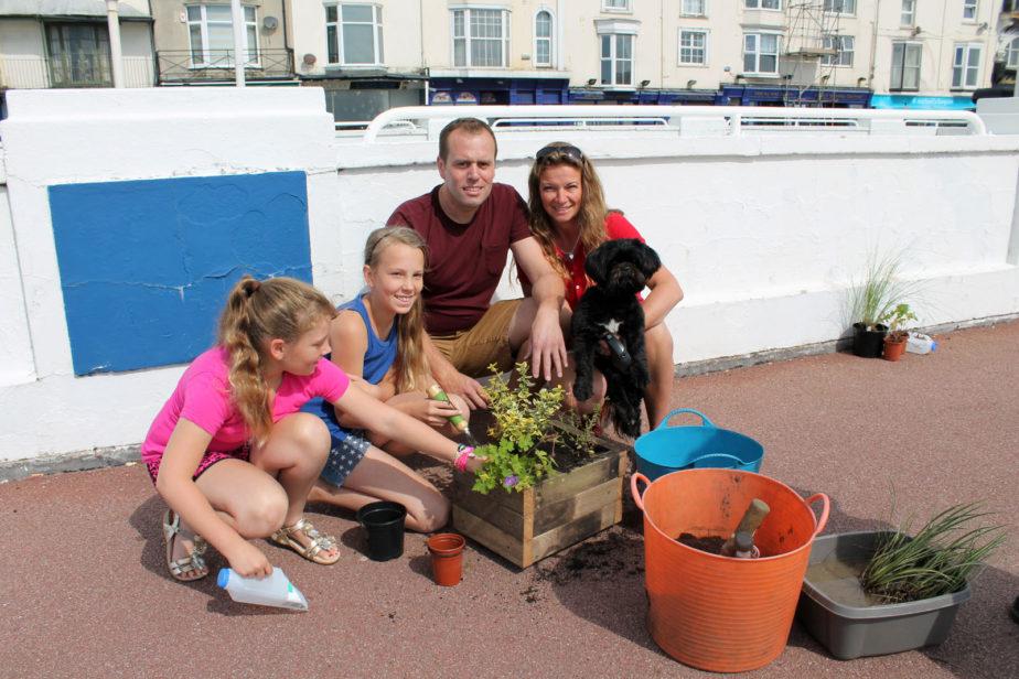 2014 workshop, making planters from original pier decking