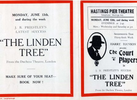 Flyer for Harry Hanson's Court Players