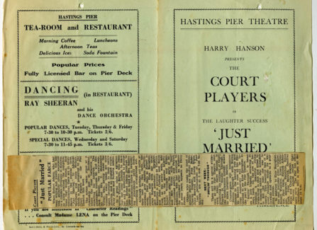 Court Players programme for Just Married