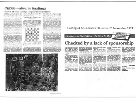 Hastings International Chess Congress Press Coverage
