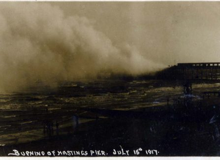 Burning Hastings Pier 1917
