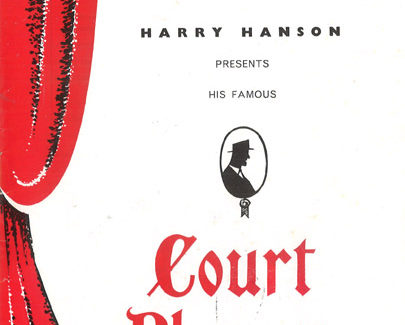 Harry Hanson's Court Players Flyer