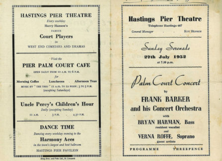 Palm Court Concert Programme