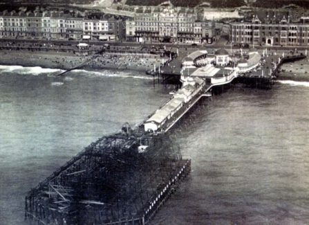 Hastings Pier after the 1917 Fire