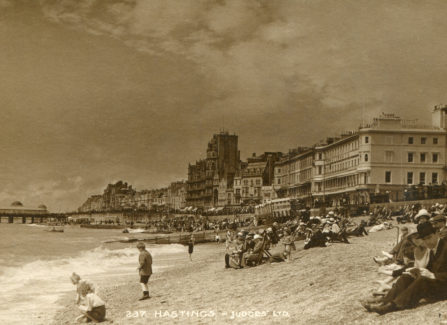 A Busy Day on Hastings Beach