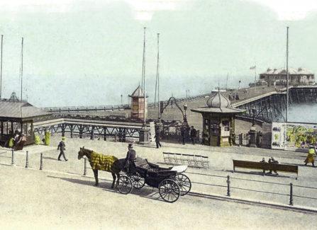 Edwardian Pier with Landau, hand-coloured