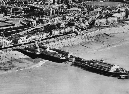 Aerial View of Pier with Middle Section Removed