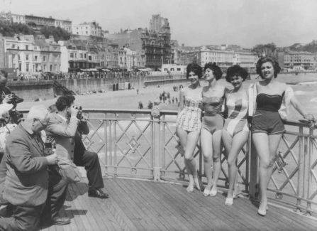 Bathing Beauties on the Pier