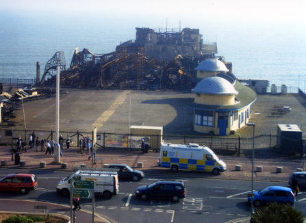 The Pier after the 2010 fire from Clambers
