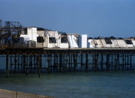Damaged Pier buildings after the 2010 Fire