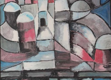 Gouache painting in the style of Paul Klee