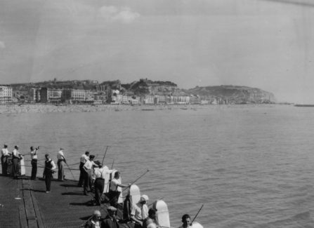 Anglers on the Landing Stage