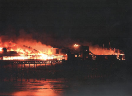 Hastings Pier on Fire