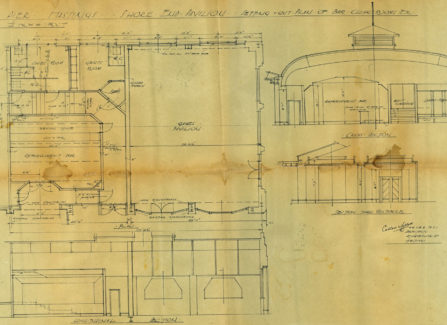 Architectural Drawings of the Shore End Pavilion