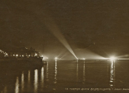 Torpedo Boats off St Leonards Pier at Night