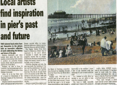 Local artists help the Pier to create display boards