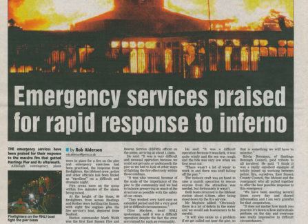 Hastings Observer articles on the 2010 fire