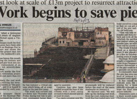 Press article 'Work begins to save Pier'