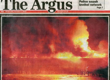 Argus Newspaper Coverage of Hastings Pier Fire