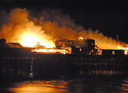 The Pier on fire, 2010