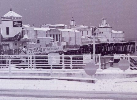 The closed Pier under snow, 2010