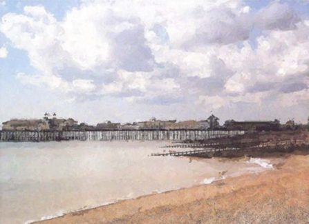 Barry Dyke Painting of Hastings Pier