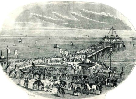 Engraving of the New 1872 Pier