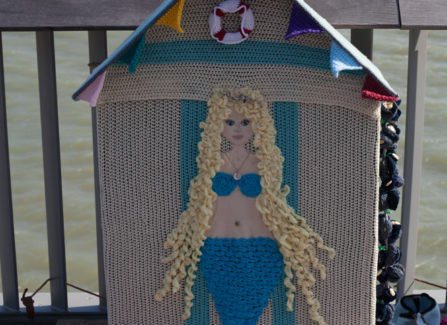 Mermaid, Pier Yarn Bombing